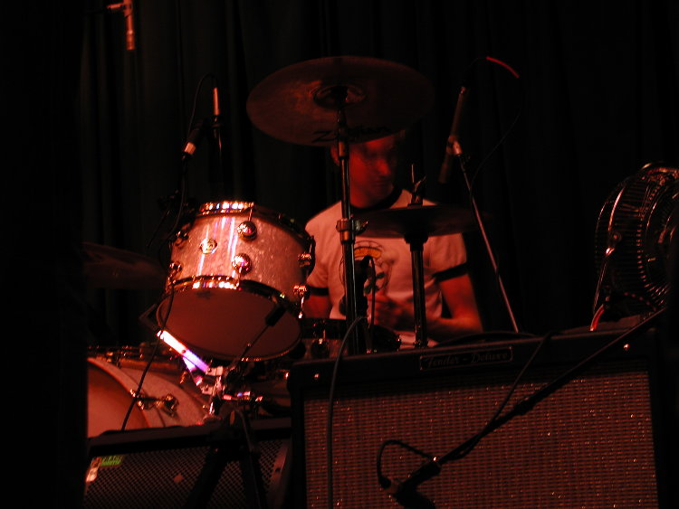 evan playing the drums