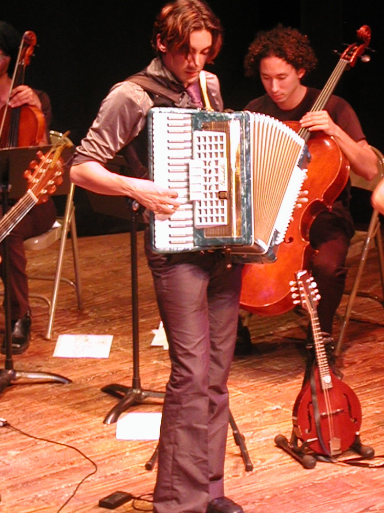 matt playing the accordian