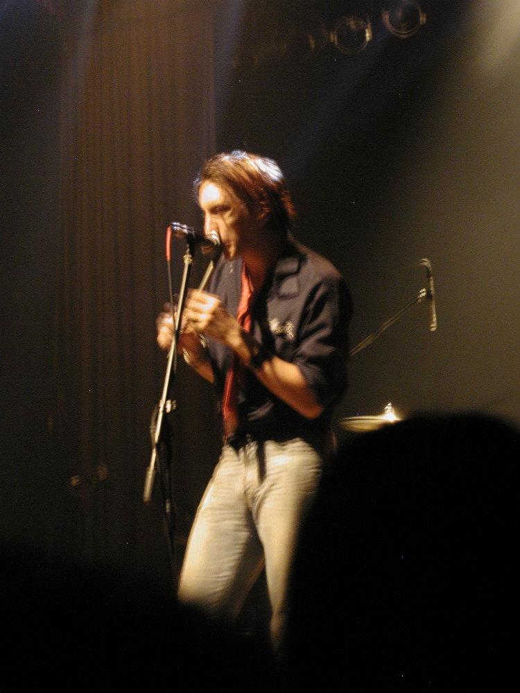 Matt playing the tin whistle