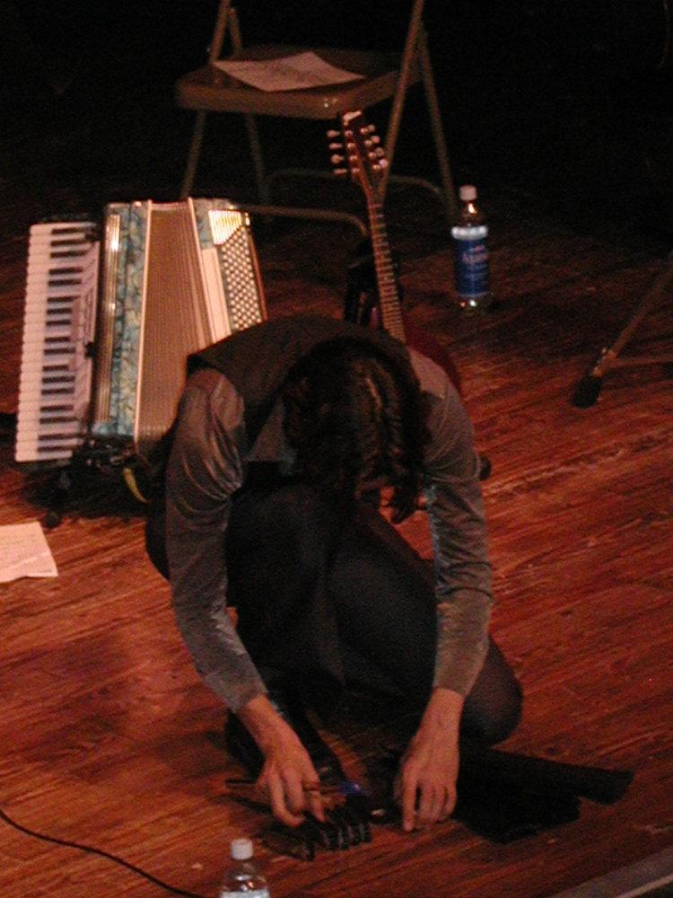 matt arranging his harmonicas